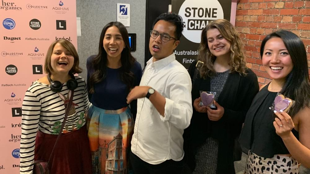 All smiles at the International Women's Day Event in Melbourne, hosted by Stone and Chalk
